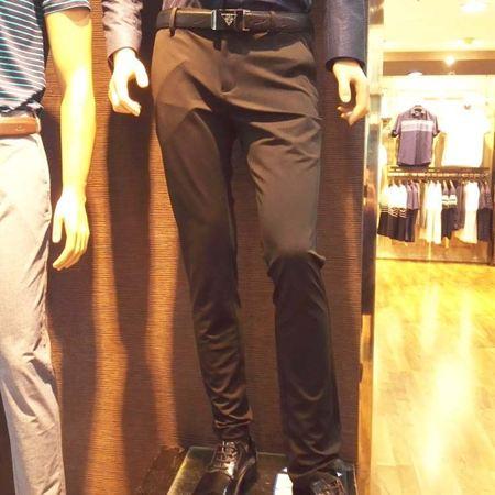 七匹狼男装针织休闲裤111710402853 黑色 2017新款夏装