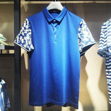 罗蒙男士短袖T恤6T74024 蓝色 2017新款