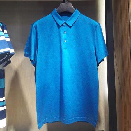 罗蒙男士短袖T恤6T74018 蓝色 2017新款