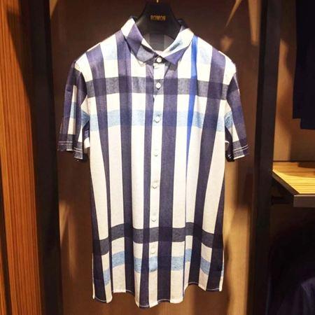 罗蒙男士针织衬衫6T74006 黑白条纹 2017新款
