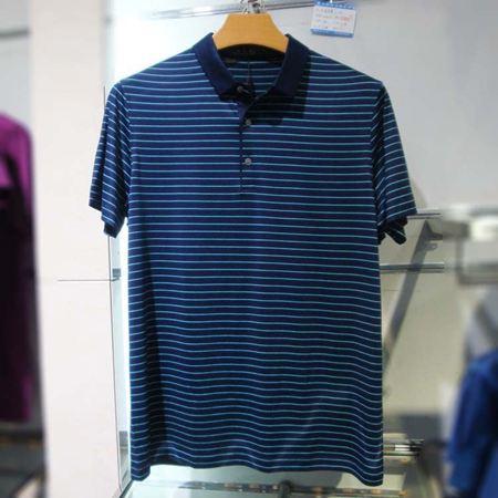 培罗蒙男士短袖T恤18008-红色/蓝色