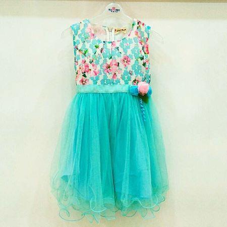布鲁莎莎连衣裙B700243 蓝色/米白色