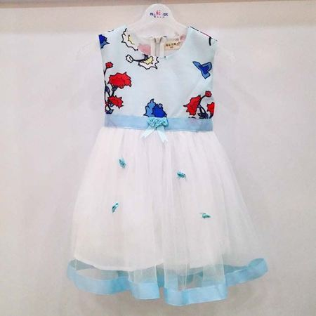 布鲁莎莎连衣裙B701069 浅蓝色/粉色