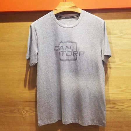 肯拓普(CAN·TORP)男士圆领休闲T恤衫2017新款 灰色/浅军 8122695021