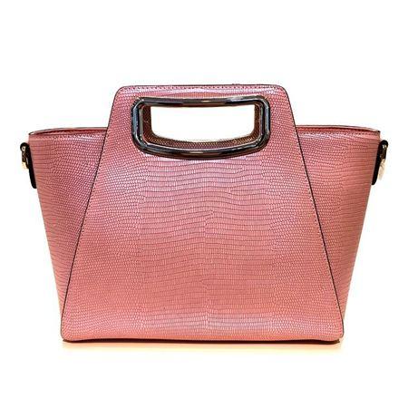 凯撒KAISER2179900701B手提单肩斜跨女包翅膀包 粉色/黑色 专柜正品