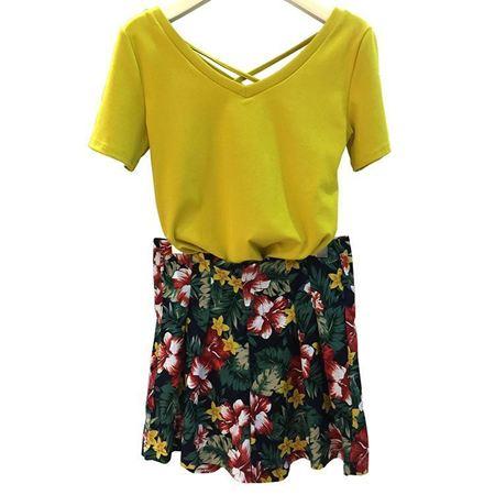 嘉蜜套装连衣裙172589231 黄色
