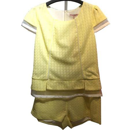 玛玮丝上衣M52S2352+短裤M52T2653 黄色 换季清仓特惠一口价199元