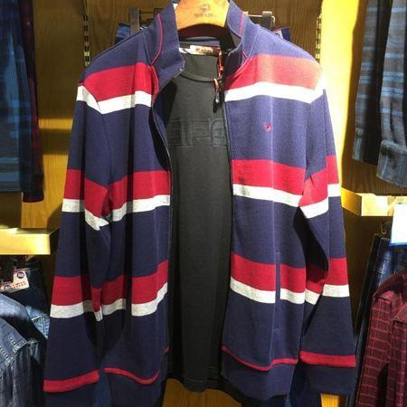 威鹏男装针织长袖衫   D43023   新款上市