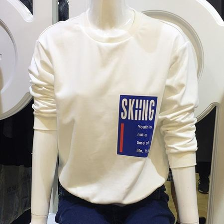逸阳 白色卫衣 EWQF70221I01 新款上市