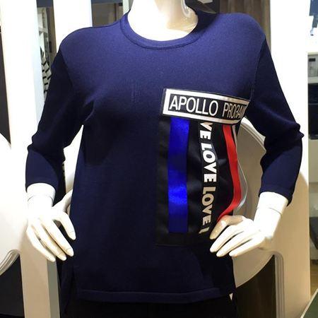 逸阳 宝蓝色毛衫 EWQF70282D20 新款上市