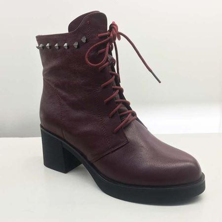 富贵鸟秋冬女鞋G96K095CC 红色/黑色