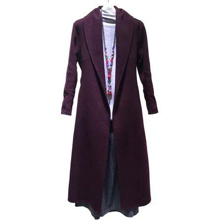 依伽依佳羊毛大衣17DD022 紫红 2017冬季新款