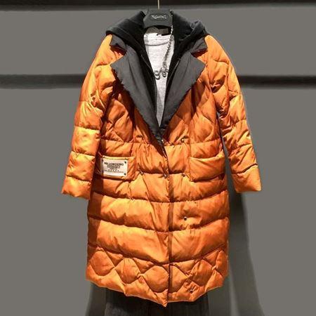 诺兰贝尔 冬季新款羽绒服 焦糖色/黑色 184Y3638