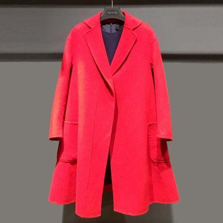 红贝缇 冬款大衣 大红色 玩咖时尚D53016