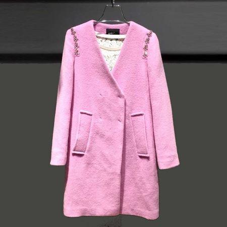红贝缇 冬款大衣 浅紫色 未来主义 D54023