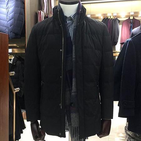 美尔雅男式羽绒服5200092 黑色短款