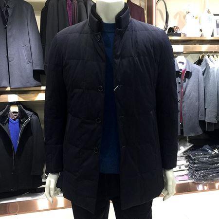 美尔雅男式羽绒服5300046 黑色短款