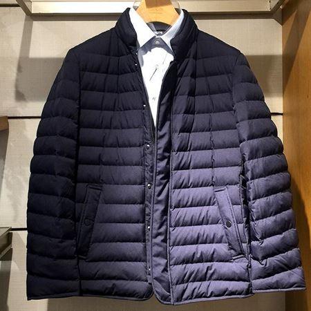 雅戈尔男士羽绒服YRYS46428FQA 藏蓝色短款