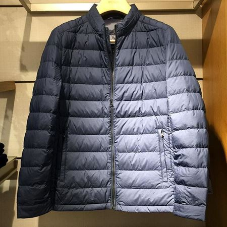 雅戈尔男士羽绒服YRYS46432FQA 藏蓝色短款
