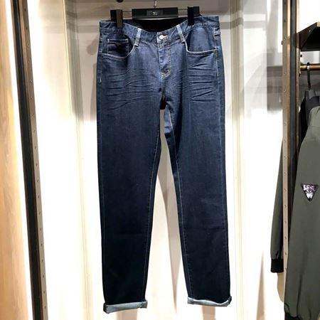 七匹狼男装牛仔裤111770403807 蓝色