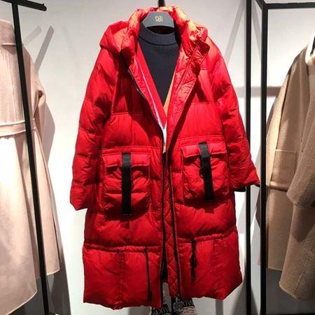 佧茜文冬季新款白鸭绒羽绒服 法国红 17811A8331350