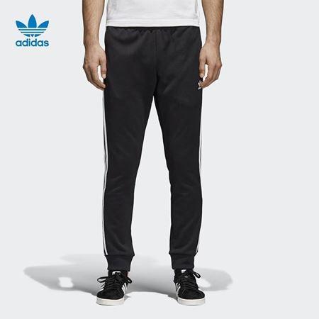 adidas 阿迪达斯 三叶草 男子 运动裤 黑 CW1275