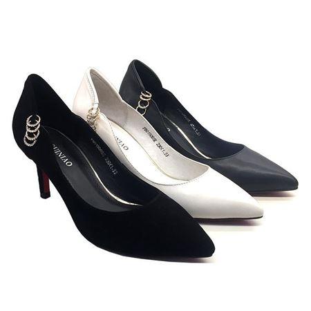 富贵鸟 春季新款女单鞋 F8019065S 黑色/白色/灰色