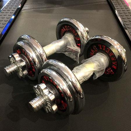楚霸电镀片式组合哑铃6公斤