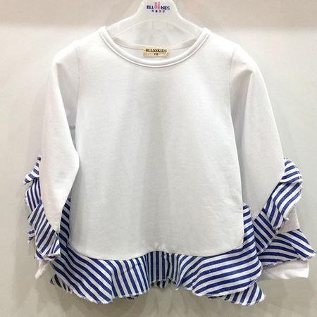 布鲁莎莎女中童针织T恤812218 白色 95%棉+5%氨纶