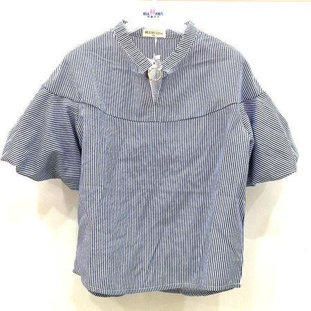 布鲁莎莎女中童梭织衬衣812250 蓝色 100%棉