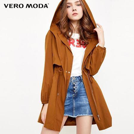 Vero Moda 2018春季新款 腰部束腰抽绳连帽外套 318117505