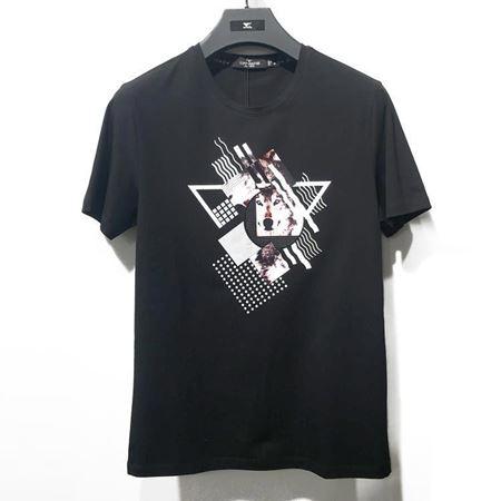 2018七匹狼男装T恤衫111830602528 黑色印花