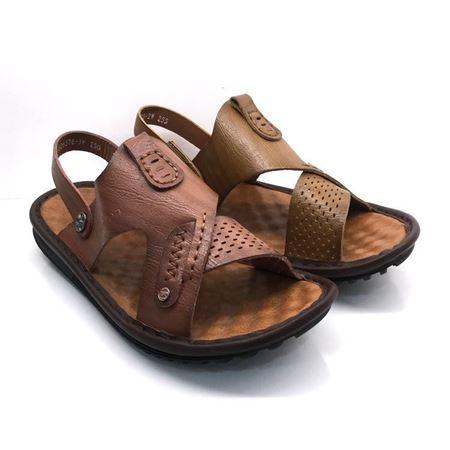 吉尔达 男式凉皮鞋 828BL-826578-2W