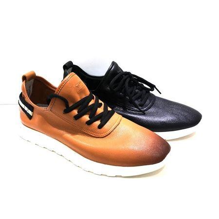 七匹狼鞋业 休闲男皮鞋 383433969 黑色/褐色