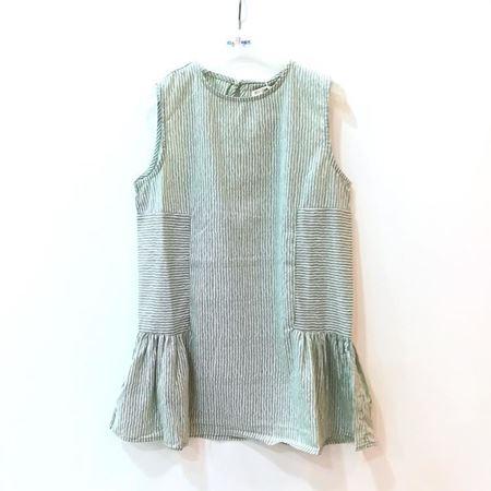 布鲁莎莎 女小童梭织连衣裙 浅绿 821007 夏季新款
