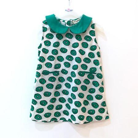 布鲁莎莎 女小梭织背心裙 绿色 821032夏季新款