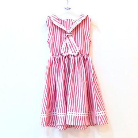 布鲁莎莎 女中童连衣裙 红色/蓝色  822225 夏季新款