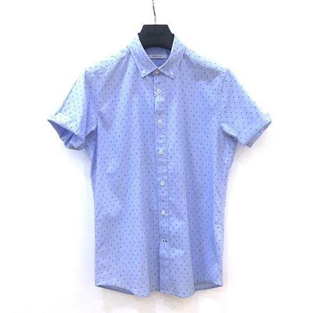 罗蒙男士短袖衬衫 6E182661 浅蓝色 2018夏季新款