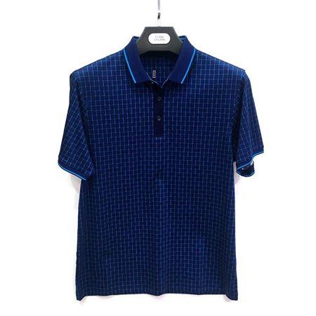 杉杉 短袖T恤17103-22蓝色 100%棉 2018夏季新款