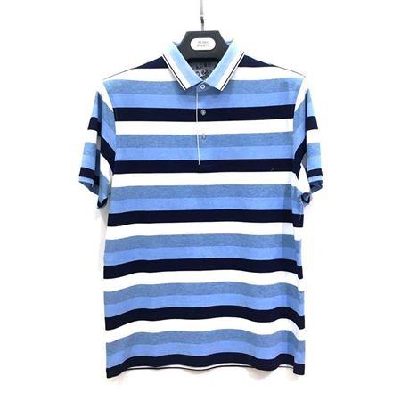 杉杉 T恤32222-21X 天蓝色黑白条纹 2018夏季新款