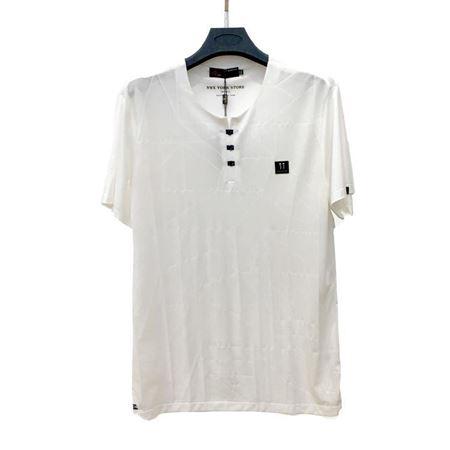 金狐狸 男士T恤17813 白色圆领 2018夏季新款