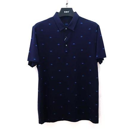 恒源祥 T恤衫T18518 午夜兰(深兰) 2018夏季新款