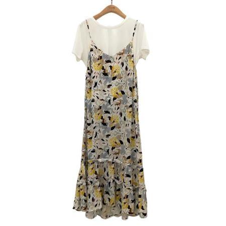 易菲 套装 A型无袖连衣裙+针织上衣 1805Y227 都市后花园