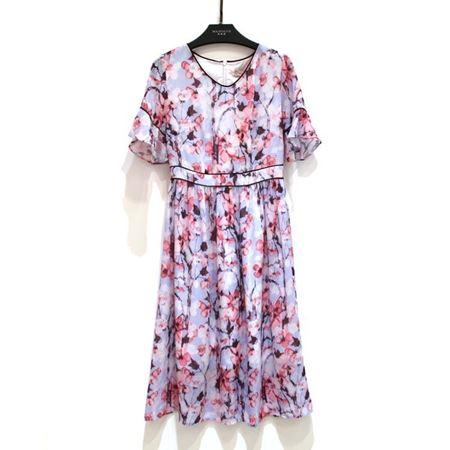 玛玮丝 连衣裙 M18L1038 紫花/绿花 2018年新款
