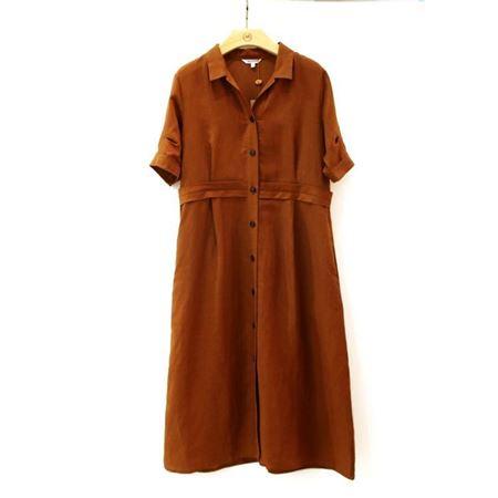 慕托丽 夏款连衣裙 MR1122525413W021 姜黄色 2018新款上市