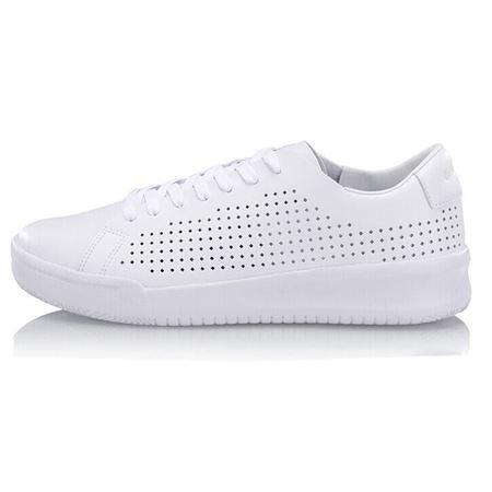李宁 闲鞋男鞋小白鞋 黑色/白色 AGCN027 2018年夏季新款