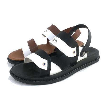 吉尔达 男式凉皮鞋 873BL-721205 黑色/灰色 2018夏季新款