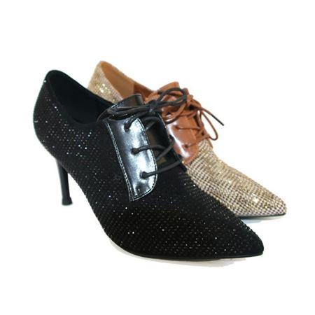 吉尔达 女士皮鞋 秋季新款 85666 黑色/白色