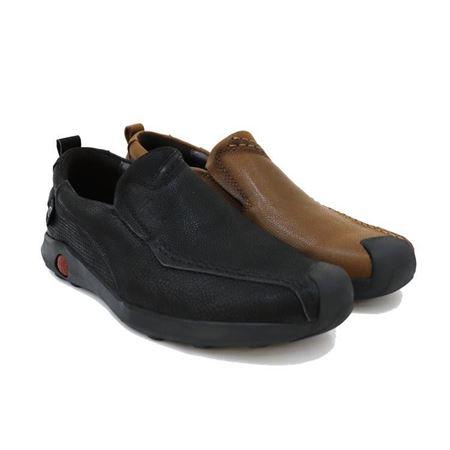 豪行 2018新款休闲男鞋 K845707 褐色/黑色