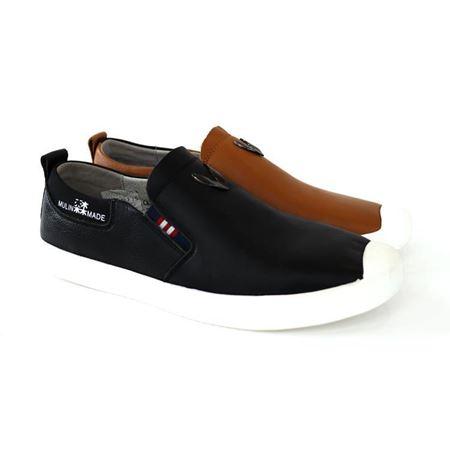 木林森  2018新款休闲男鞋  CM8111392 浅褐色/黑色
